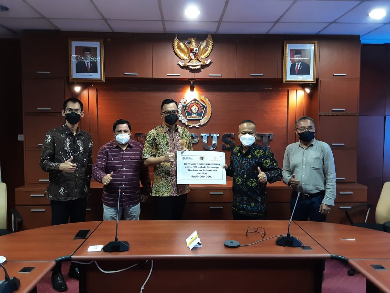 PWI Pusat Terima Donasi PT PPA Buat Wartawan Terkena Covid