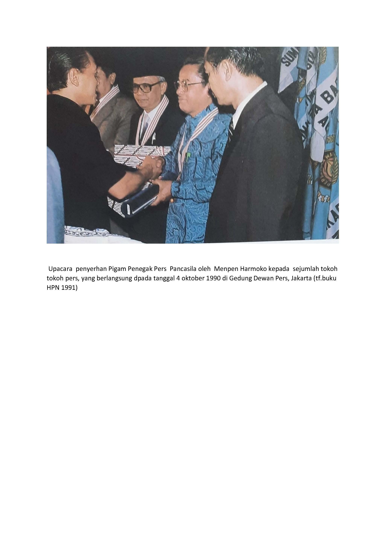 Daftar Penerima Penghargaan Penegak Pers Pancasila Tahun 1990