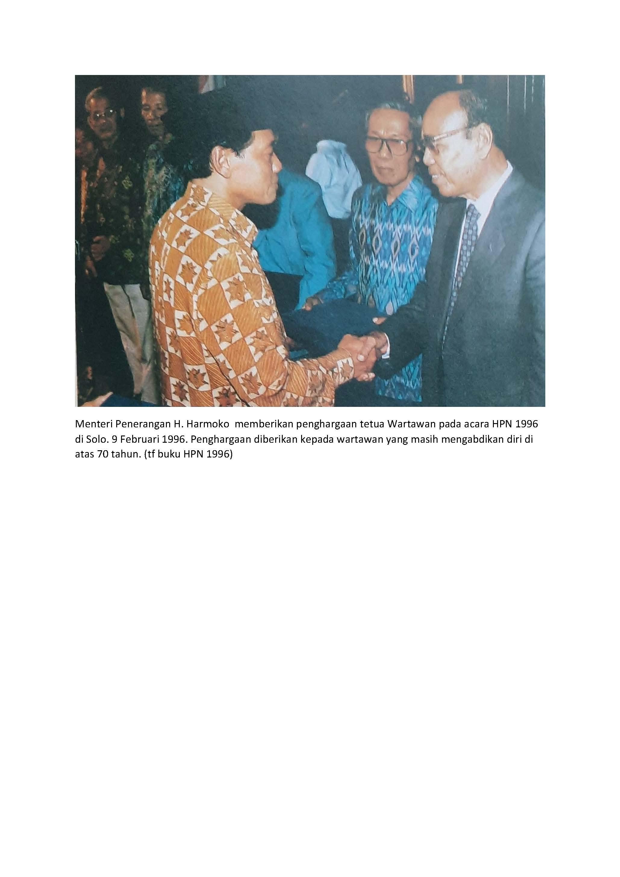 Daftar Penerima Penghargaan Penegak Pers Pancasila Tahun 1996